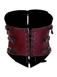 Steampunk Corsage aus Leder schwarz