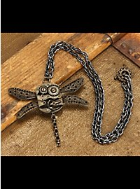 Steampunk Dragonfly Pendant includes chain