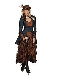 Steampunk Dress Copper Blue