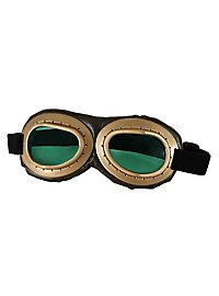 Steampunk Fliegerbrille golden