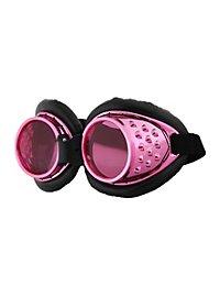 Steampunk Fliegerbrille pink