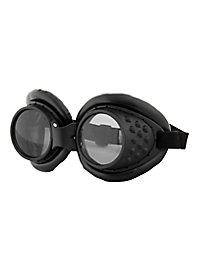 Steampunk Fliegerbrille schwarz