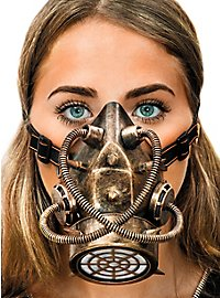 Steampunk gas mask bronze