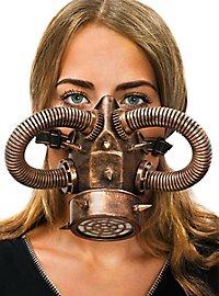 Steampunk Gasmaske kupfer