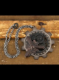Steampunk Gear Pendant includes chain
