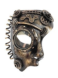 Steampunk half-mask android