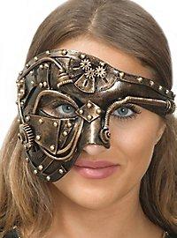 Steampunk half-mask humanoid