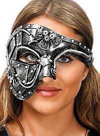 Steampunk half mask robot