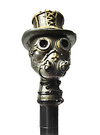 Steampunk head cane