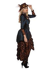 Steampunk Kleid Copper Blue