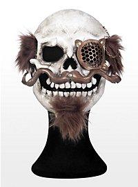 Steampunk Knochenschädel mit Bart Ledermaske