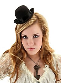 Steampunk Mini Bowler Hat black