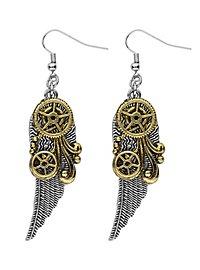 Steampunk Ohrringe Flügel