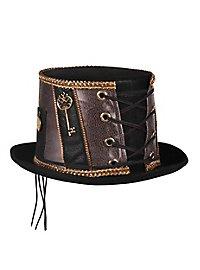 Steampunk Porkpie Hut schwarz