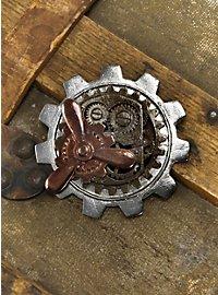 Steampunk Propeller Brosche