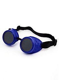 Steampunk Schweißerbrille blau