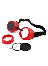 Steampunk Schweißerbrille rot