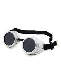 Steampunk Schweißerbrille silber