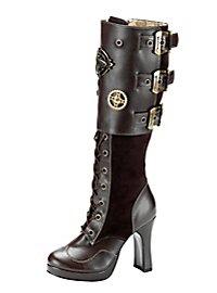 Steampunk Stiefel Deluxe Damen braun