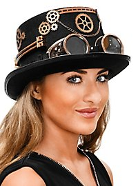 Steampunk top hat with glasses