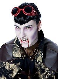 Steampunk Vampir Brille rot