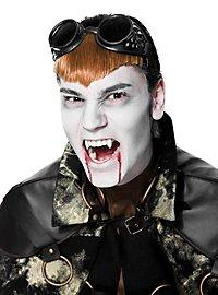 Steampunk Vampir Brille schwarz