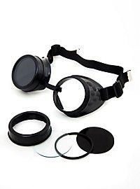 Steampunk Welder Goggles black