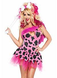 Steinzeit Schönheit pink Kostüm