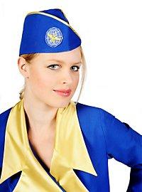 Stewardess blau Kostüm