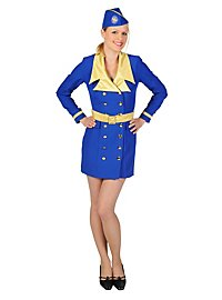 Stewardess blue Costume