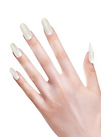 Stiletto fingernails mother-of-pearl