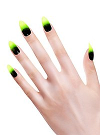 Stiletto fingernails toxic green