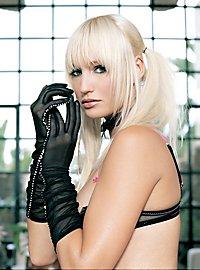 Stocking Mesh Elbow Gloves black