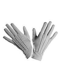 Stoffhandschuhe grau