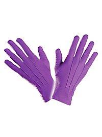 Stoffhandschuhe lila