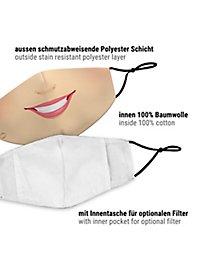 Stoffmaske Comic Frau