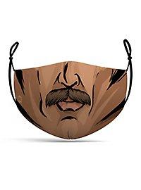 Stoffmaske Comic Mann