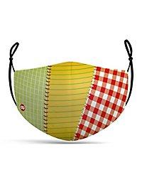 Stoffmaske Patchwork Flickenstrumpf