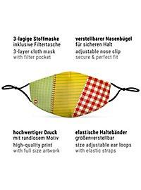 Stoffmaske Flickenstrumpf