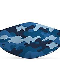 Stoffmaske für Kinder Camouflage navy