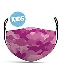 Stoffmaske für Kinder Camouflage pink