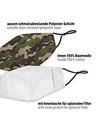 Stoffmaske für Kinder Camouflage Wood