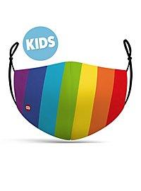 Stoffmaske für Kinder Regenbogen