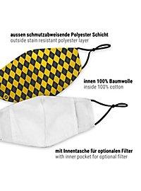 Stoffmaske für Kinder Zauberschule gelb