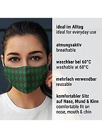 Stoffmaske für Kinder Zauberschule grün