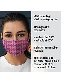 Stoffmaske für Kinder Zauberschule rosa