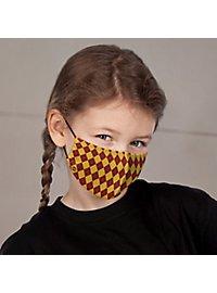Stoffmaske für Kinder - Zauberschule rot
