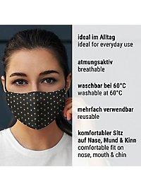 Stoffmaske mit Jacquard Muster