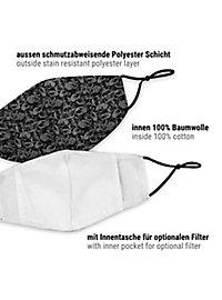 Stoffmaske mit Schädel-Muster