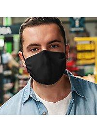 Stoffmaske schwarz